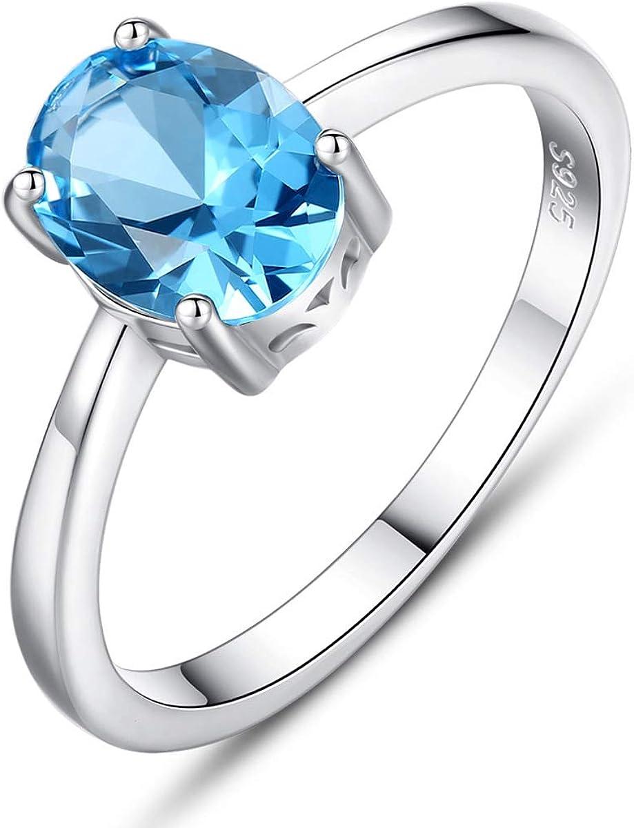 VEINTI+1 SALENEW very popular Eye-catcher Opal Shape Max 46% OFF Sky Sterling Blue Sil Topaz S925