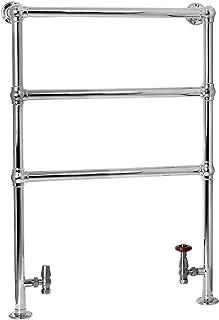ENKI radiador toallero para baño 970 670 piso de pie níquel BALLERINA