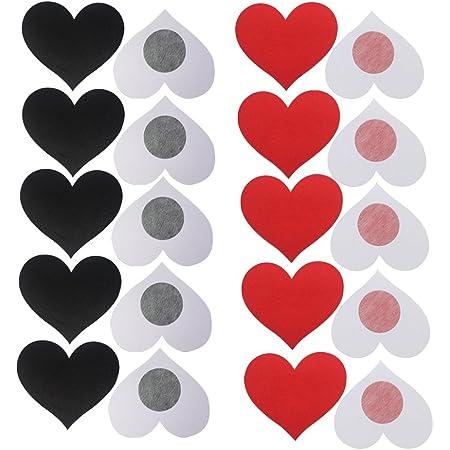 Heart Shape Nipple Covers Satin Adhesive Breast Pasties Petals