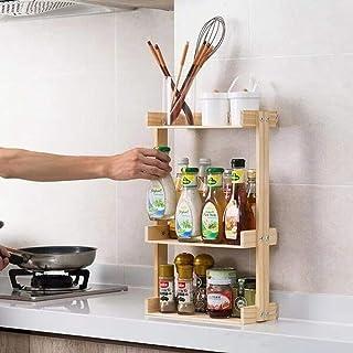 Support À Épices En Bois De Pin Support De Rangement Pour Organisateur De Cuisine Pour Support À Condiments D'Épices