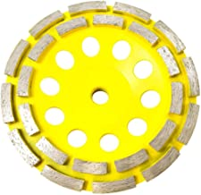 Stadea CWD204H Concrete Grinding Wheel 6 Inch Double Row Diamond Cup Grinding Grinder Wheels Disc for Concrete Masonry Stone Granite Grinding