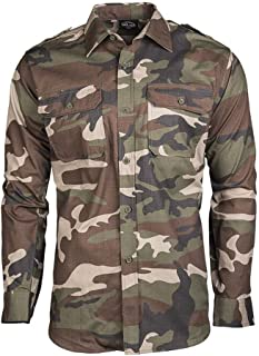 Mil-Tec RipStop Camisa manga larga Oliva