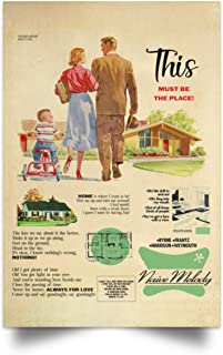 This Must Be The Place Naive Melody 1950s Housing Development Advertisement Vintage Retro Print Poster Wall Art Home Decor