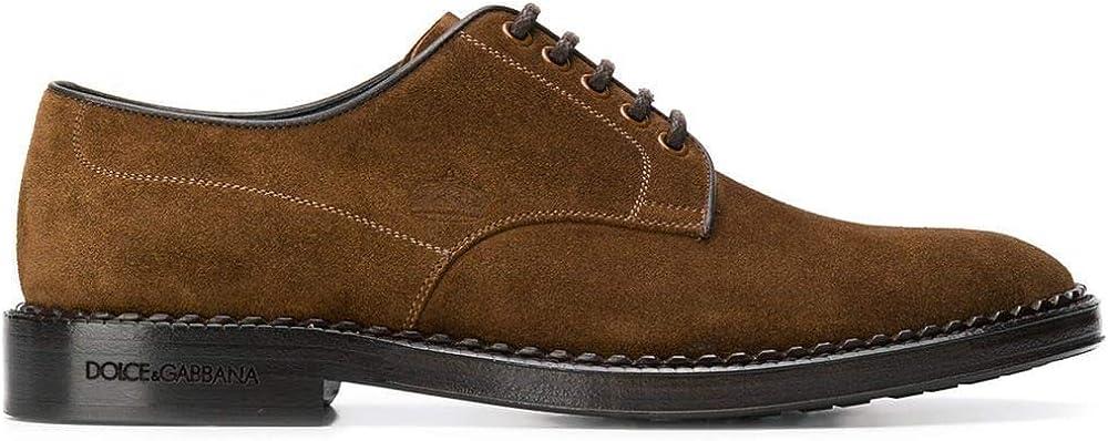 Dolce & gabbana luxury fashion scarpe stringate in camoscio per uomo A10471AA60880056
