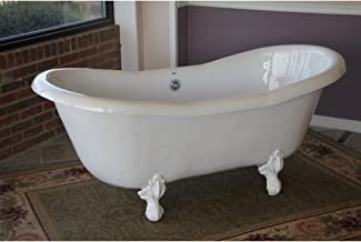 """product image for Duchess 68"""" x 30"""" Bathtub Color: White"""