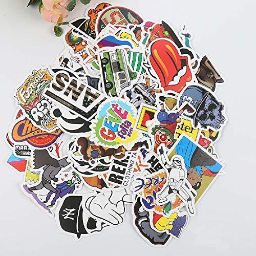 YUYIHAN 100 Stück Aufkleber Zufällige Vinyl Laptop Skateboard Fahrrad Gepäck Aufkleber Dope, Graffiti Aufkleber, Zufällige Aufkleber, Auto Aufkleber, für Motorrad, Koffer… (H)