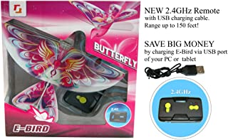 2.4GHz Remote Control Flying BUTTERFLY E-Bird with life-like flapping wing. Great kids gift for indoor & out door use.