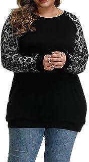 Women's Plus Size Tunic Tops Soft Lightweight Knit Long...