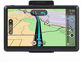 Car GPS, 7 inch Portable Navigation System for Cars, Lifetime Map Updates, Real Voice Turn-to-Turn Alert Vehicle GPS Sat-Nav, On-Dash Mount