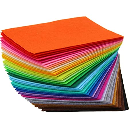 Snow Crafts A4 Assorted Color Felt Fabric Craft Sheets 1mm Thick (20cm*30cm) (A4-10 Sheets)