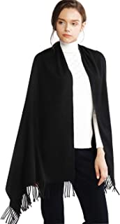 Winter Cashmere Wool Scarf Pashmina Shawl Wrap Stole for Women Feel Warm Tick Large Scarves