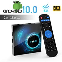 Android TV Box, TUREWELL T95 Android 10.0 Allwinner H616 Quadcore 2GB RAM 16GB ROM Mali-G31 MP2 GPU Soporte 6K 3D 1080P 2.4GHz WiFi 10/100M Ethernet DLNA HDMI 2.0 H.265 Smart TV Box [2020 más Nuevo]