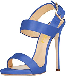 FSJ Women Superb Open Toe Slingback Sandals Ankle Strap Stiletto High Heels Shoes Size 4-15 US