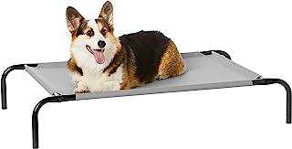 AmazonBasics Medium Elevated Cooling Pet Dog Cot Bed - 43 x 26 x 7.5 Inches, Grey