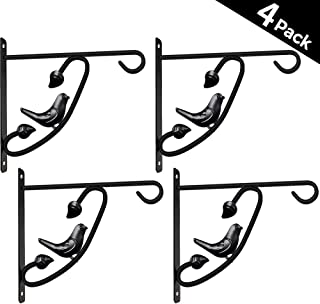 4 Pack Hanging Plants Bracket 12in Wall Planter Hook Flower Pot Bird Feeder Hanger for Fence And Trees Wind Chime Lanterns Hanger Outdoor Indoor Patio Lawn Garden Shelf Screw Mount against Door Arm