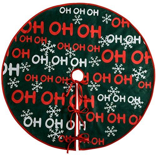 "WeRChristmas ""Ho Ho Ho Weihnachtsbaum Rock Dekoration, Stoff, Mehrfarbig, 105cm, groß"