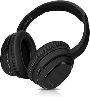 kwmobile Auriculares Bluetooth Over Ear - Audífonos inalámbricos ANC con reducción de Ruido y micrófono - Headphones con Cable Micro USB