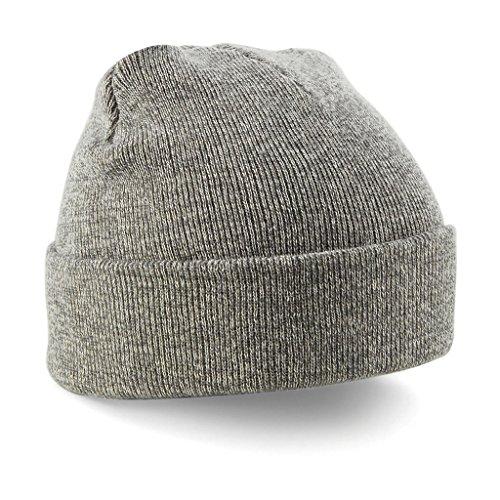 Beechfield B045.HEA Cuffed Bonnet Mixte, Noir, Taille Unique