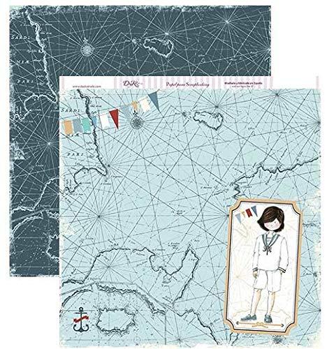 Dayka Trade Papel Scrapbooking Dayka Primera comunión Mapa Mundi