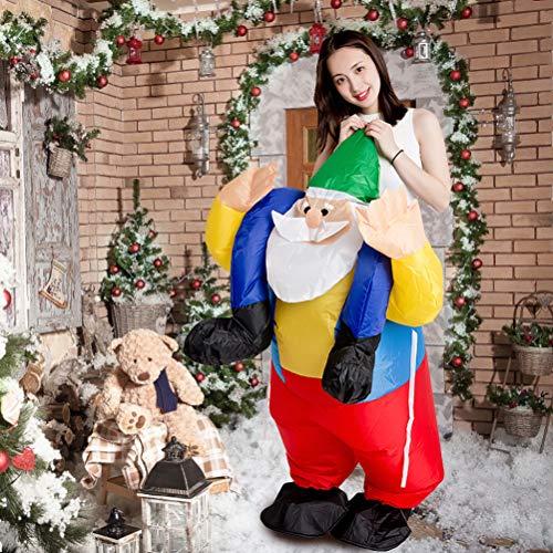 KiMiLIKE Weihnachten aufblasbar Kostüm aufblasbar Weihnachtsmann Klausel Anzug Kostüm lustig Puppe Requisiten für Weihnachten Cosplay Party