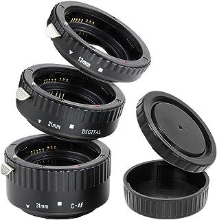 "Automatik Zwischenringe ""3-teilig 31mm, 21mm & 13mm"" für Makrofotographie kompatibel mit Canon EF/EF-S EOS 1200D, 1100D, 1..."