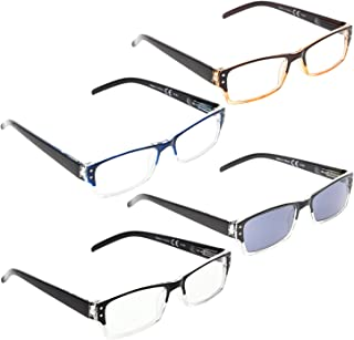 READING GLASSES 4 pack Include Sunshine Readers +2.00