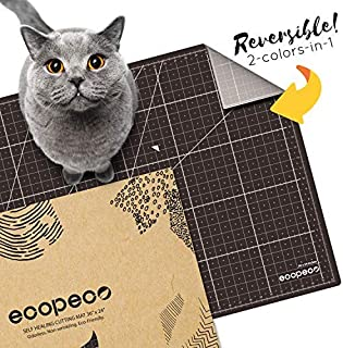 """ecopeco 18""""x24"""" Self Healing Professional Cutting Mat Double Sided Grid Board with Identification Non-toxic Materials for ..."""