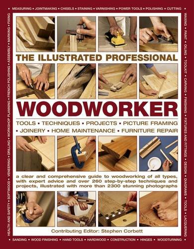 The Illustrated Professional Woodworker: Tools, Picture Framing, Joinery, Home Maintenance, Furniture Repair, With Expert Advice And Over 260 Step-By-Step Techniques And Projects