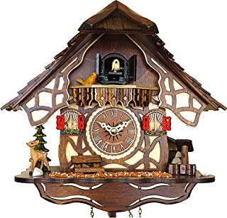Cuckoo Clock Quartz-Movement Chalet-Style 25cm Engstler