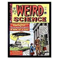 Magazine Cover Weird Science Spaceship Sci Fi Soldier Art Print Framed Poster Wall Decor 12X16 Inch 雑誌の表紙カバー奇妙な科学スペース兵士ポスター壁デコ