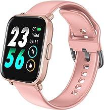 HolyHigh Reloj Inteligente Pantalla Táctil Smartwatch Impermeable Deportivos Pulsera Actividad SpO2 Pulsómetro Monitor de Sueño Podómetro Brújula para Hombre Mujer Niños