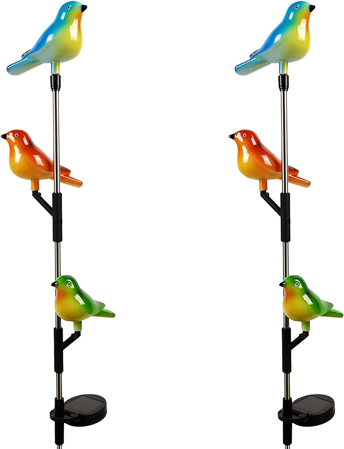 Garden Solar Lights Outdoor Selling rankings Decor Recommended 2 Pack Powered Stake -