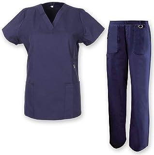 Uniforme M/édical avec Haut et Pantalon V/ÊTEMENTS DE Travail Femme Ensemble Uniformes Unisexe Blouse Misemiya Ref.8308