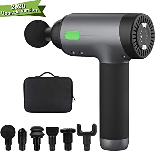 Massage Gun,Deep Tissue Percussion Muscle Massager,Handheld Rechargeable Vibration Full Body Massage Device Helps Relieve Muscle Soreness and Stiffness,5 Variable Speeds