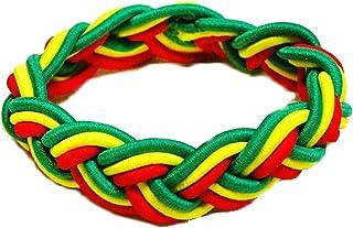 Reggae Rasta pulsera brazalete pulsera de la amistad de Bob Marley África colores rayas Head Cuerda piel Muñeca Bond Jamaica pulsera