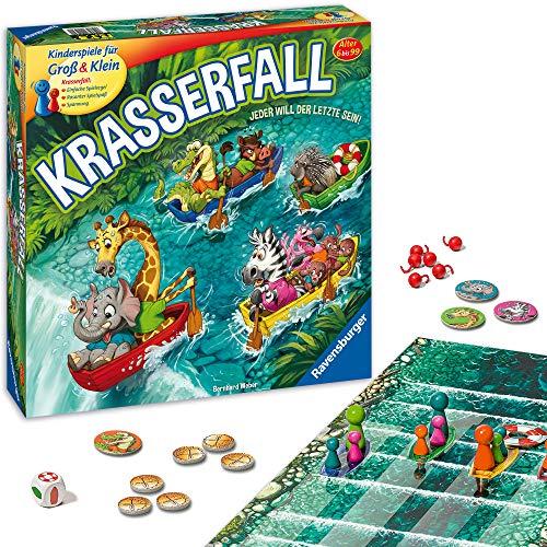 Ravensburger - 20569 - Krasserfall - rasantes Brettspiel für Familien und Kinder - Wettkampf für 2 bis 4 Spieler, Gesellschaftsspiel ab 6 Jahren