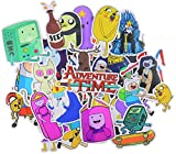 Adventure Time Stickers (30pcs), Cartoon Vinyl Laptop Waterproof Sticker Skateboard Pad MacBook Car Snowboard Bicycle Luggage Decal