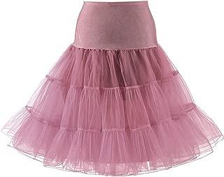 50s Vintage Petticoat for Women Rockabilly Tutu Skirt Knee Length Slip