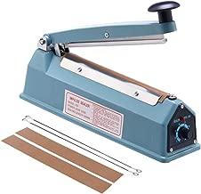 Eletional 8 inch Impulse Bag Sealer,Manual Bag Sealer Heat Seal Closer,2 Free Replacement Kit