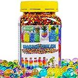 Anicoll Wasserperlen groß XXL 55000PCS Wasserkugeln für Kinder Gel Perlen Aquaperlen 13mm/14 Farben Bunte Wachsen In Wasser für Vase Füllstoff Pflanzen, Blumen Dekoration Wiederverwendbar 400g