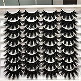 ALICROWN Dramatic Eyelashes Fluffy Mixed False Lashes Lightweight Handmade Soft Volume 16 Pairs Faux Mink Lashes Pack