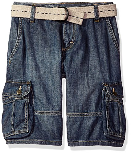 Wrangler Authentics Boys' Fashion Cargo Shorts, Blue Denim, 12