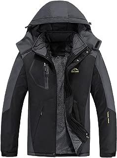 Fseason-Men Ski&Snowboard Zipper Plus Size Warm Cotton Anorak Jacket