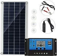 SPORTULI 20W Semi Flexible Solar Panel Battery Charger Kit and Controller 18V Car Laptop RV Lighting