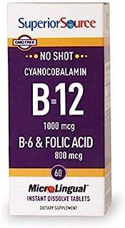 Superior Source B12/B6 /Folic Acid Multivitamin, 1000 mcg/2 mg/800 mcg, 60 Count