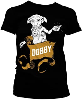 HARRY POTTER Oficialmente Licenciado Dobby Mujer Camiseta