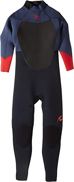 Dawn Patrol 4/3 Back Zip Wetsuit (Big Kids)