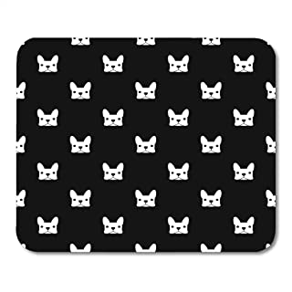 Emvency Mouse Pads Pattern French Bulldog Puppy Frenchie Animal Outline Face Mousepad 9.5