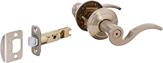 KWIKSET 730BRL 15 CP Nickel Brooklane Privacy Lever