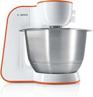 Bosch MUM5 StartLine Kitchen Machine MUM54I00, Versatile, Large Stainless Steel Bowl (3.9l), Pastry Set, Dishwasher Safe, 900 W, White Mixer מיקסר בוש
